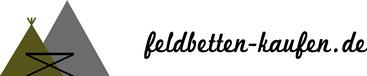 Feldbetten kaufen Logo mit Schriftzug